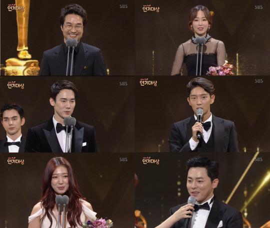 [SBS 연기대상] 이변 없는 '한석규의 대상'...수상남발-PPL-이휘재는 아쉬워(종합)
