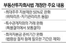 """[단독] """"리츠 최대주주 주식소유 제한 50%""""로 완화"""""""