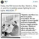 FBI '킹 목사' 기리는 트위터에 사람들이 분노한 이유