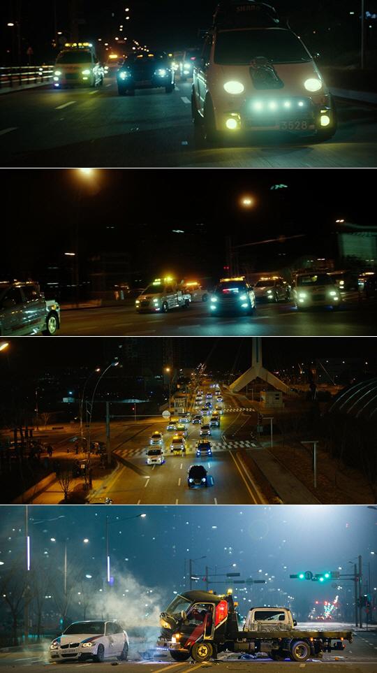 [마스터숏] '조작된 도시' 액션의 진수를 보여주는 진짜 주인공은? 터보 엔진 단 슈퍼카 '마티즈'