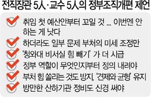 """""""차기 정부 조직개편 안하거나 최소화를"""""""