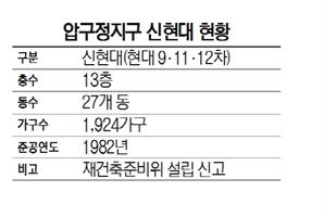 압구정 신현대 재건축 가시화에 3억8,000만원 '펄쩍'