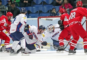 달튼 36개 선방쇼…한국 아이스하키, 세계선수권 첫판 짜릿한 승리