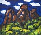[조상인의 예(藝)-박고석 '도봉산'] 푸른기운 도는 암벽의 서슬...하늘에 닿고 숲으로 퍼지다