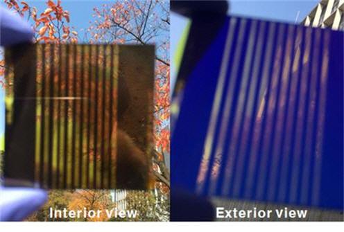 창문에 붙이는 투명 태양전지 개발됐다.
