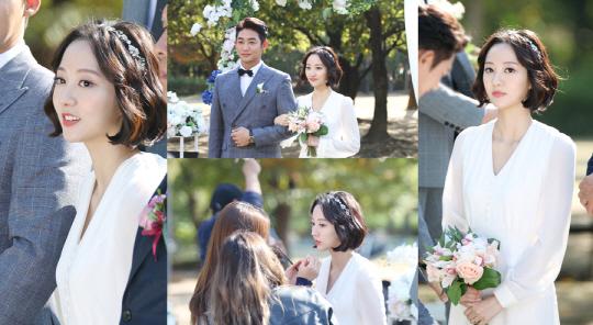 '황금빛 내 인생' 박주희, 결혼식 촬영 현장에서도 빛나는 미모