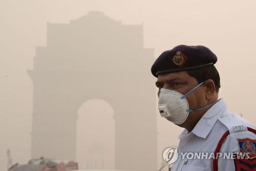 뉴델리 1주일째 최악의 스모그…美유나이티드항공 운항 중단