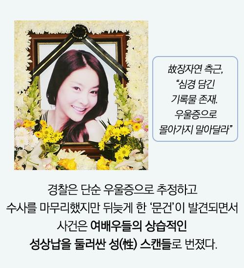 [카드뉴스]꽃다운 여배우 장자연의 죽음 그 후