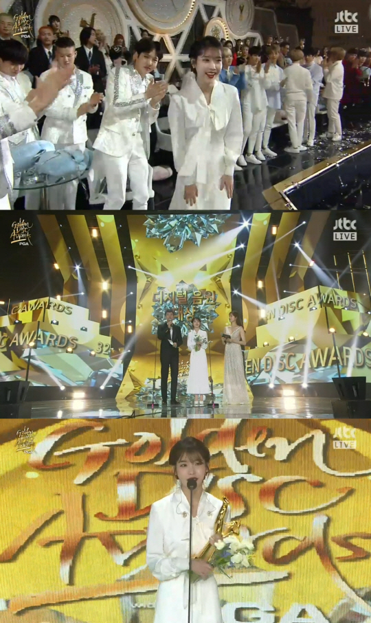 [2018 골든디스크] 아이유, 대상 영예…윤종신 첫 본상·워너원 신인상(종합)
