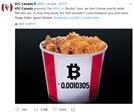 "KFC캐나다 ""비트코인으로 치킨 주문하세요"""