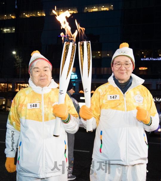 조양호·조원태 父子 평창 동계올림픽 성화봉송 릴레이