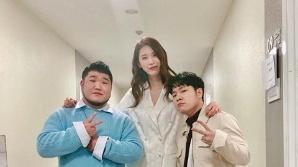 """천단비, 길구봉구와 '스케치북' 출연 인증샷…""""그룹 '뫼 산(山)' 출연"""""""