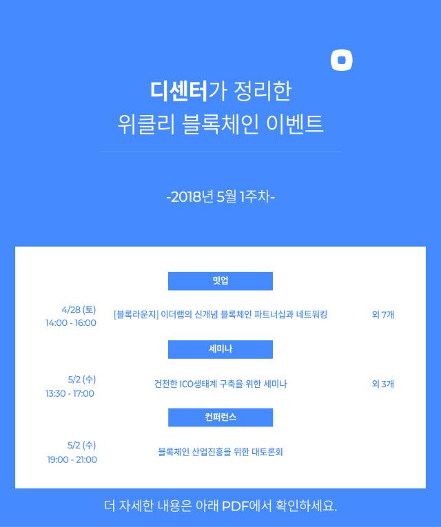 [블록체인이벤트]5월 1주차…네드 스캇 스팀잇CEO 방한