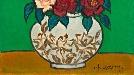 [조상인의 예(藝)-<62>황염수 '장미']강인한 검정 테두리 속 꿈틀대는 생명력...열정·순결·사랑을 담다