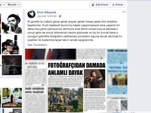 '소녀 신부는 아동학대' 결혼 사진 촬영 거부한 터키 사진사