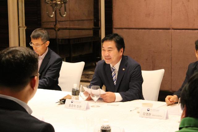 홍종학 장관, 싱가포르 현지 기업인 간담회