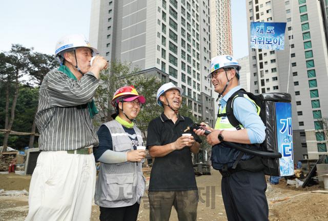 삼성물산, 혹서기 현장 'Ice Day'운영