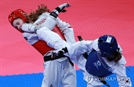 하민아, 태권도 여자 53kg급 은메달..부상 투혼 빛났다
