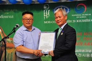 국립중앙박물관, 몽골 특별전 전시용품 몽골국립박물관 등에 기증