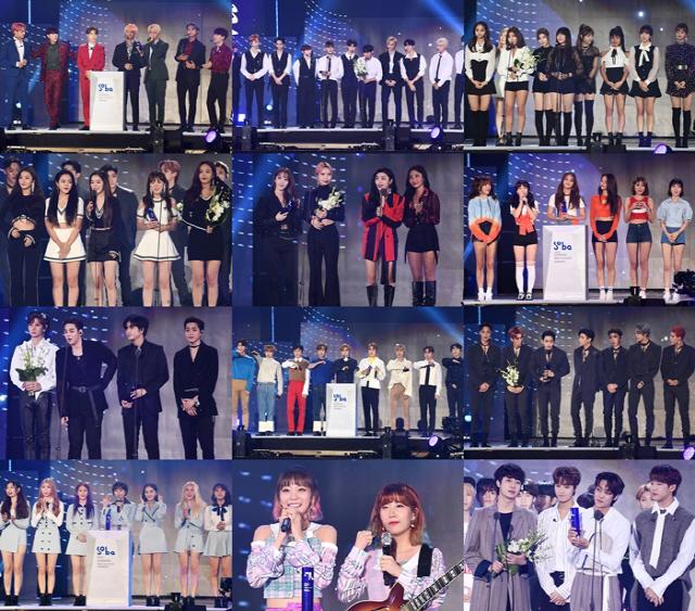 """'소리바다 어워즈', 방탄소년단(BTS) 대상 등 3관왕 ·음원 대상 트와이스 """"빛나는 주역들"""""""