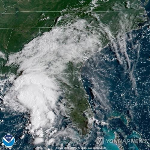 美 열대성 폭풍 '고든' 허리케인급 상륙에 비상사태 선포