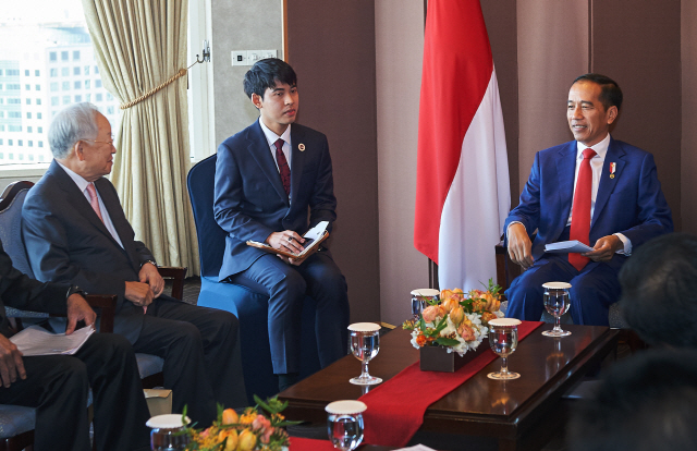 손경식 CJ그룹 회장, 조코 위도도 印尼 대통령과 환담