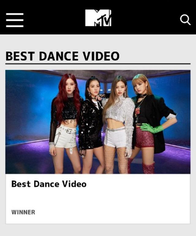 블랙핑크, 日 MTV VMAJ 2018 '베스트 댄스 비디오' 부문 수상