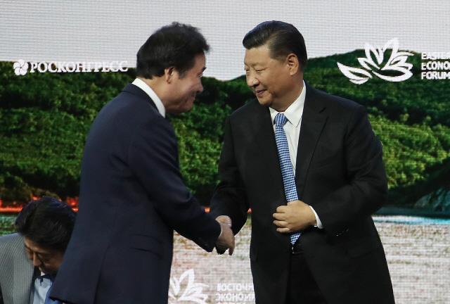 [동방경제포럼]시진핑 '동북아 지역 경제 연결고리 만들어야'