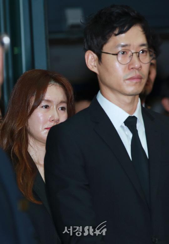 김지수-유준상, '침통한 표정'