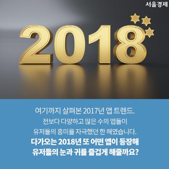 [카드뉴스]2017년 스마트폰 사용자 마음 훔친 '최고의 앱'은?