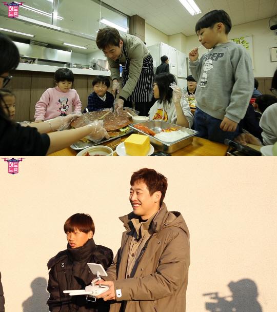 '하트드론' 김재원, 지름 40cm 대형 햄버거 제작