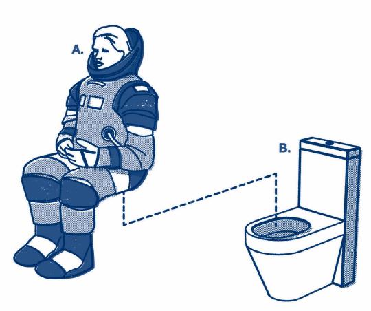 현장의 이야기 우주 화장실