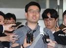 """[영상] 모자·마스크도 거부하고 카메라 앞에…김성태 폭행범 """"한국당 단식 그만해"""""""