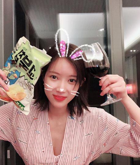 '로맨스패키지' 임수향, 파자마 파티 인증샷 '귀여운데 청순해'