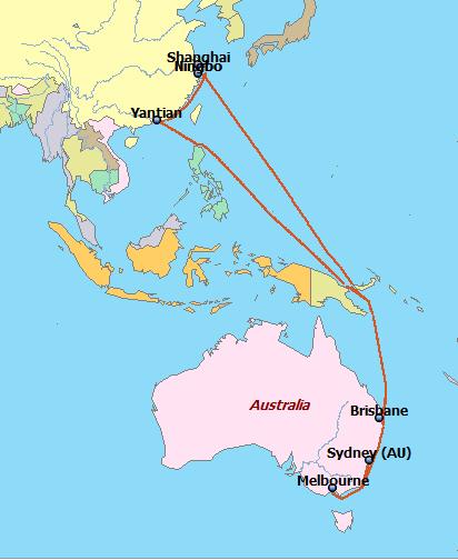 현대상선 '中~호주 급행 서비스' 8월 신설