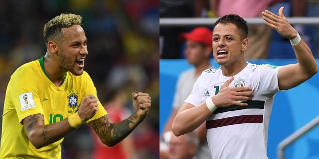 [러시아월드컵]브라질, 멕시코 잡고 우승 순항할까