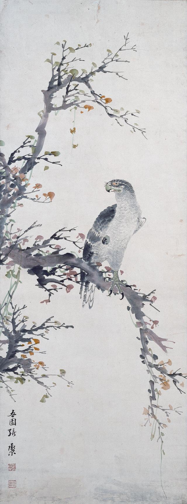 [조상인의 예(藝)-68장승업② '한아탐과' '호응탐시']열매 탐내는 산새...사냥감 노리는 매...약동하는 생명력을 담다