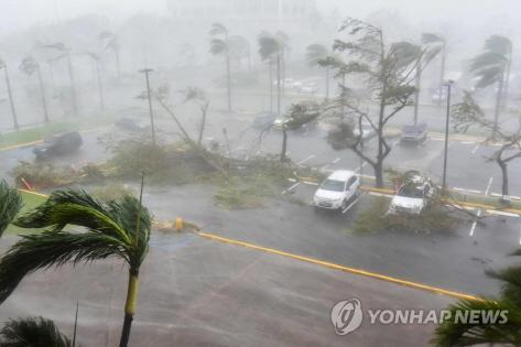 중국에 상륙한 태풍 마리아…이재민 수십만명 속출