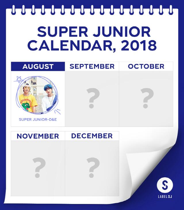 슈퍼주니어, 8월부터 매달 본다.. '열일' 행보 예고하는 'SJ 캘린더' 공개