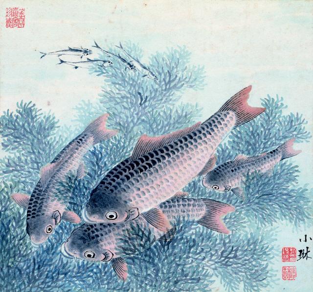 [조상인의 예(藝)-72소림 조석진 '군어유영']한가로이 노니는 정겨운 잉어들...평화·풍요를 기원하다