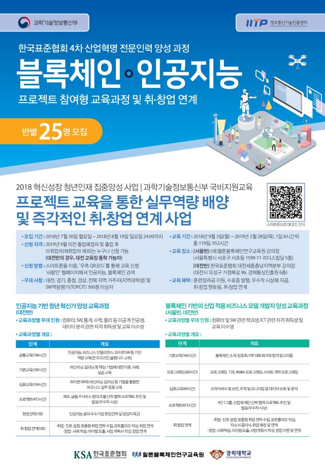 정부, 블록체인 전문인력 양성 지원…수강생 모집·무료