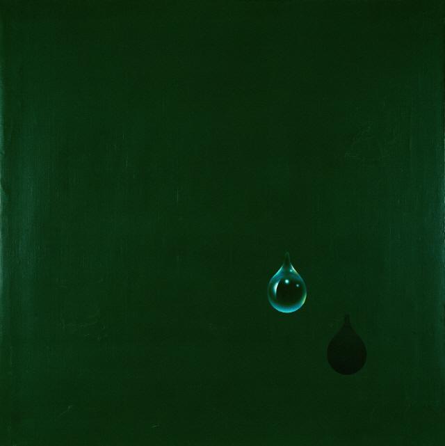 [조상인의 예(藝)-73 김창열 '물방울'] 쏟아져 내릴 듯한 송글송글 물방울...차고 영롱한 기운 담다