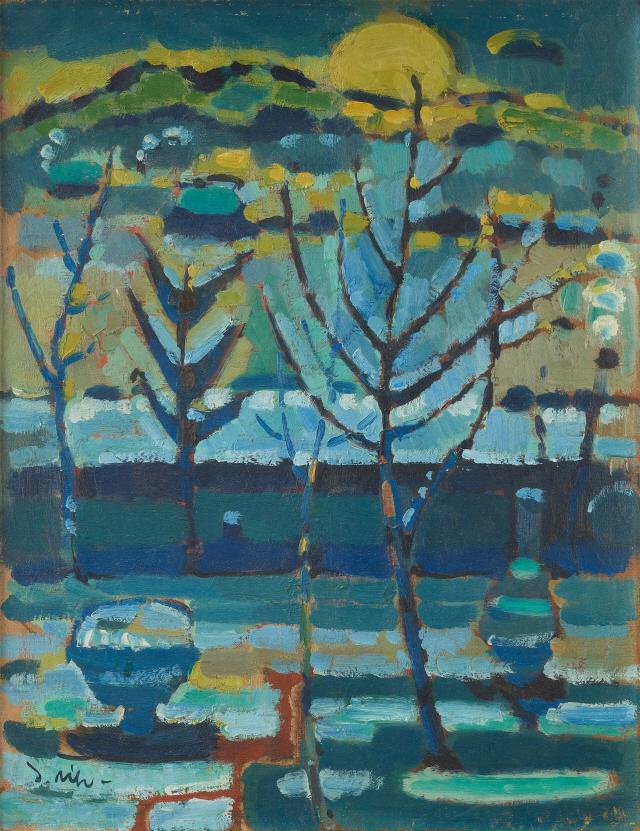 [조상인의 예(藝)-76윤중식 '아침']겹겹이 쌓아올린 강렬한 색층...시간과 빛이 그려낸 풍경
