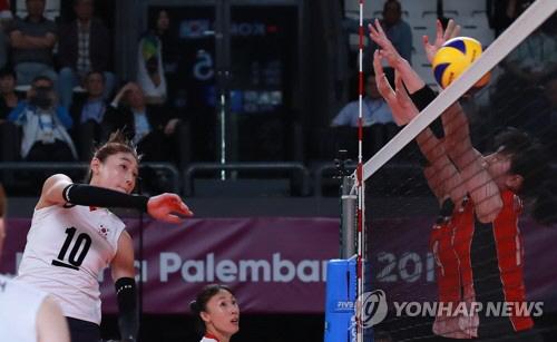 아시안게임 한국 여자배구, 일본 꺾고 동메달…김연경 29점 맹활약
