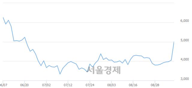 유대원전선우, 상한가 진입.. +29.88% ↑