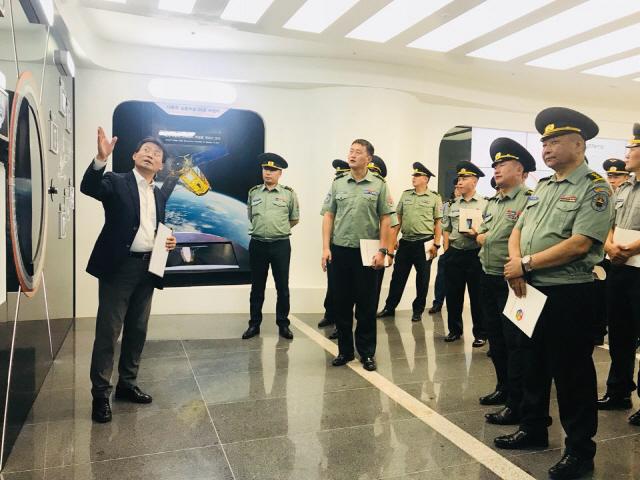 몽골 국방대학교 대표단, 한화시스템 연구소 방문