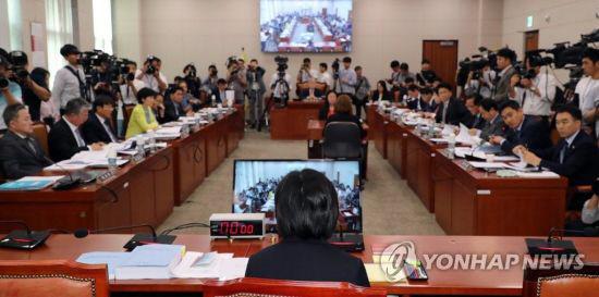 여상규-박지원, 이은애 청문회서 고성 '당신이 판사야'vs '어디서 큰소리'