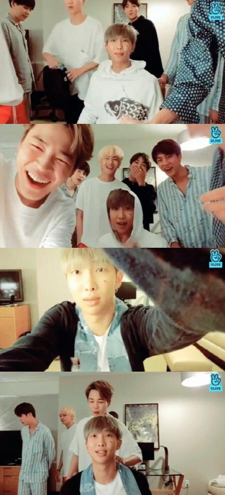 방탄소년단 RM, 오늘(12일) 생일…V라이브로 팬들 만났다