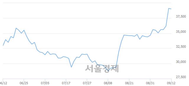 유영원무역, 장중 신고가 돌파.. 39,150→39,450(▲300)