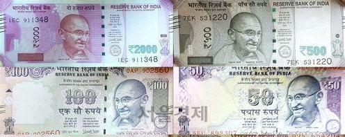 인도 경제도 '급제동'…루피화 가치 급락에 증시 직격탄
